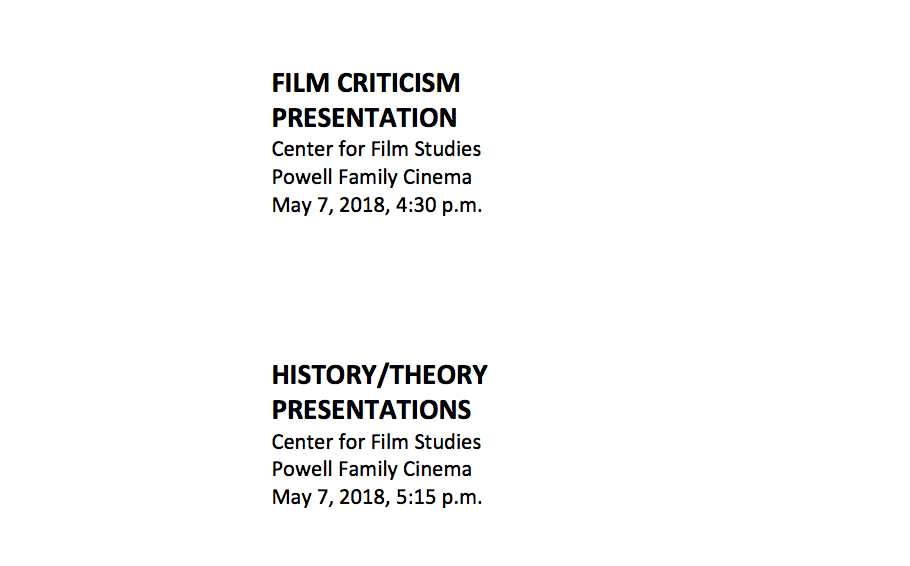 History Theory And Criticism Theses College Of Film And The Moving Image